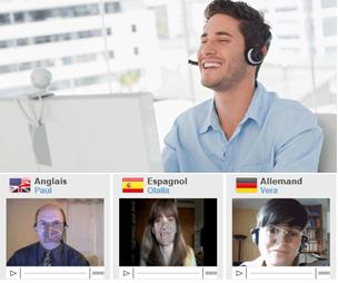 cours langue webcam